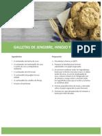 Galletas de Jengibre Hinojo y Pimienta