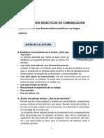 PROCESOS  DIDACTICOS  COMUNICACIÓN