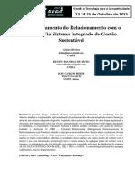 O Gerenciamento do Relacionamento com o Cliente Via Sistema Integrado de Gestão Sustentável.pdf