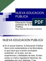 Educación Especial en el contexto de la Educación Publica