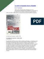 25 Mejores Libros Sobre La Segunda Guerra