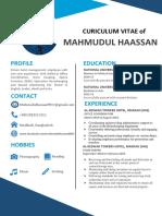 CV of Mahmudul Hassan