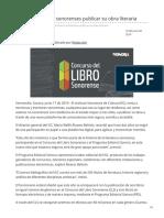 17-06-2019 - Podrán escritores sonorenses publicar su obra literaria - H.canalsonora.com