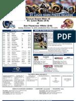 Week 10 - Rams at 49ers