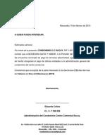 Carta Solvencia