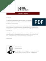 July Napa Newsletter