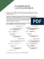Argentina - Tasa baja de homicidios