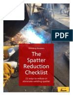 Spatter Reduction Checklist