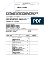 Modelo Plan de Auditoria