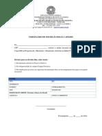 Formulário de Inscrição Bolsa Capes