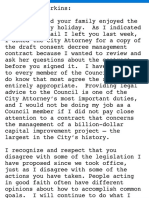 Email from John Nickelson to Mayor Perkins
