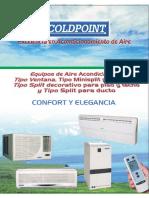 Ficha Tec. Split Ducto COLDPOINT_Gas R22