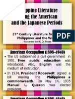 Philippine Literature During the American and Japanese Periods