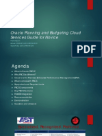 Oracle Planning and Budgeting Cloud Sanjay Purohit