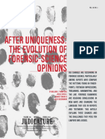 After Uniqueness the Evolution of Forensic-Science Opinions