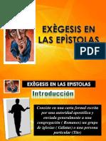 Exegesis en Las Epistola