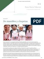 De Mandiles y Chupetas _ Rosa María Palacios