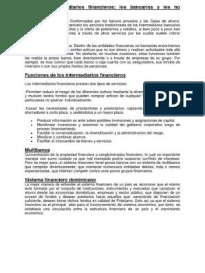 Intermediarios Financieros Sistema Financiero Bancos