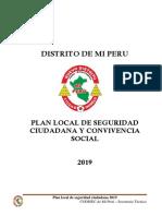 DISTRITO DE MI PERU - PLAN LOCAL DE SEGURIDAD CIUDADANA Y CONVIVENCIA SOCIAL 2019