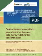 00 Foro Politicas Publicas Reduccion Desigualdad Peru