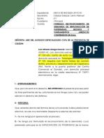 Reconocimiento de La Demanda de Luis Alfredo Aliaga Garcia