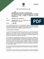 DIRECTIVA PRESIDENCIAL N° 02 DEL 02 DE ABRIL DE 2019