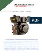 Parts Number - Motor Kama 186F