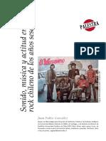 Sonido Musica y Actitud en El Rock Chile