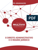O Direito Administrativo e o Regime Juridico (Anexo)
