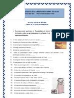 Auto da barca do Inferno - teste de avaliação formativa (V-F) (blog 9 09-10)