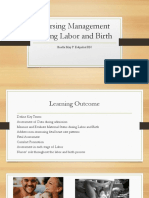 Nursing Management During Labor and Birth