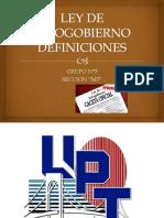 Ley de Infogobierno Definiciones