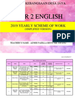 y2 Simplified English Yearly Sow 2019