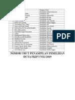 No urut pemilihan duta FKIP.docx