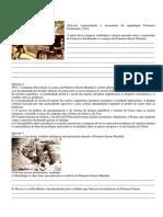 Revisação - Questoes e Gabarito - História - 1ª Guerra Mundial