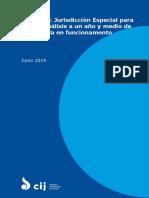 Comisión Internacional de Juristas - Colombia. Jurisdicción Especial Para La Paz, Análisis a Un Año y Medio de Su Entrada en Funconamiento. Junio 2019