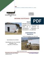 INFORME GEOTÉCNICO - CASETA DE BOMBAS - POZO N°01