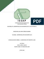 Generalidades Sobre La Administración Hospitalaria