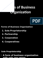 2. Forms of Business Organization