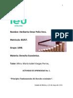 Actividad de Aprendizaje 1,Principios Fundamentales Del Derecho Económico, H.O. Peña V.