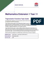 Mathematics Extension 1 Year 11 Topic Guide Trigonometric Functions