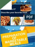 Marketable Meals