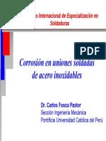 4.Corrosión en Uniones Soldadas de Aceros Inoxidables