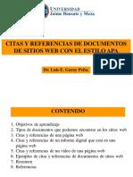 APA - .Citas y Referencias de Documentos de Sitios Web