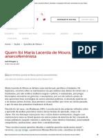 Quem Foi Maria Lacerda de Moura, Feminista e Anarquista Crítica Dos Movimentos Em Que Militou