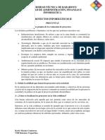 Proyectos Informáticos II