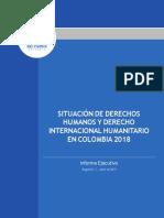 Defensoriá Del Pueblo Situación de DDHH y DIH en Colombia 2018 (Abril 2019)