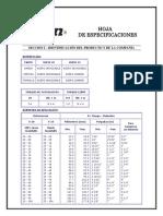 Ficha técnica del compresor houser