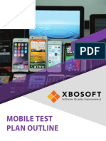 Xbosoft Mobile Test Plan Outline 2018