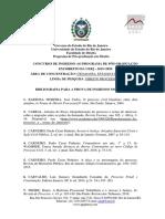 Bibliografia Indicada para Processo Seletivo do Mestrado da UERJ